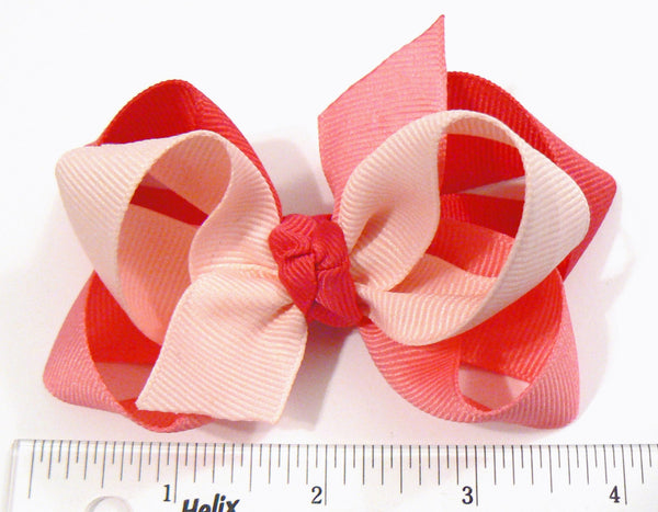 JB0-3 - Girls Combination Hair Bow (3-Colors) ~ Wholesale