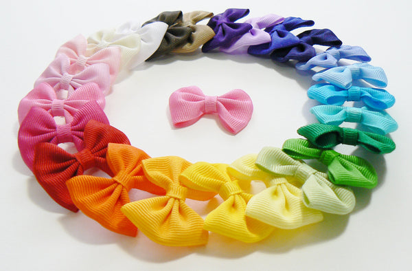 A20 - Girls Small Grosgrain Hair Bow (without knot) ~ Wholesale