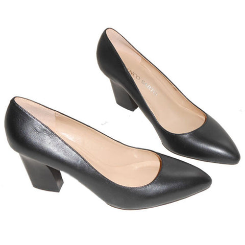 Pointed Toe High Heel Leather Shoes [4918359620]