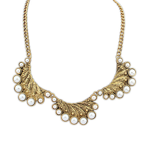 Stylish New Arrival Shiny Gift Jewelry Vintage Peacock Pearls Necklace [4918888644]