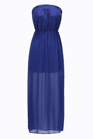 Summer Wrap Bra Prom Dress Split Dress Chiffon One Piece Dress [4917802436]