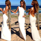 Fashion Black Long Sleeve Hollow Out High Waist Backless Bodycon Fishtail Maxi Dress = 4765102660