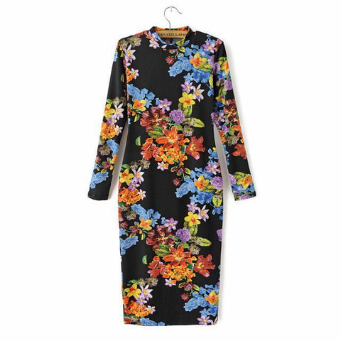 Autumn Sexy Ladies Long Sleeve Slim Skirt One Piece Dress [4917842820]