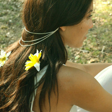 Simple Stylish Accessory Tassels Chain Hair Accessories Hairband [4918494660]