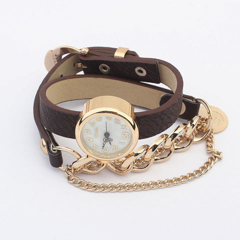 Simple Design Stylish Strong Character Bracelet Watch [4918780804]