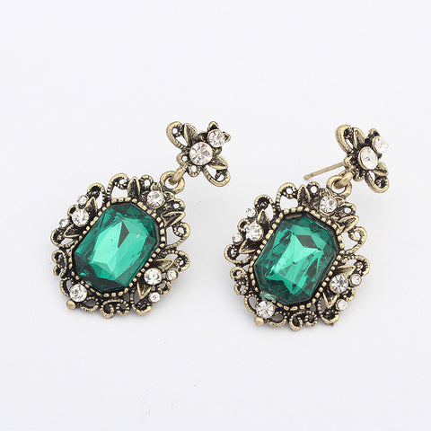 Vintage Weathered Acrylic Earrings [4919091524]