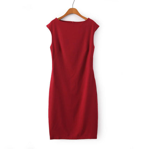 Women's Fashion Slim Sleeveless Vest Dress One Piece Dress [4917840196]
