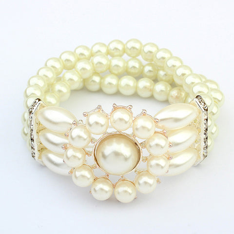 Great Deal Stylish Hot Sale Gift Awesome Shiny New Arrival Elegant Pearls Elastic Bracelet [4918779268]