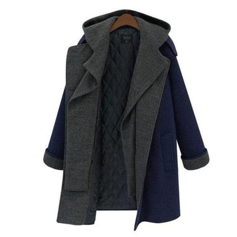 Women's Fashion Winter Windbreaker Double Breasted Bottom & Top Coat Jacket [6369156292]