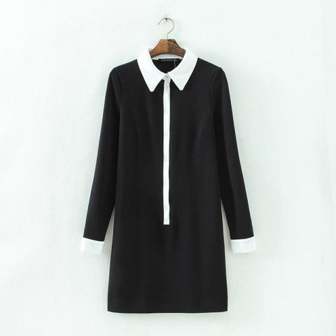 Winter Blouse Long Sleeve Skirt One Piece Dress [4917813444]