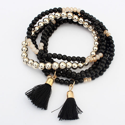 Awesome Great Deal Gift Stylish Hot Sale New Arrival Shiny Bohemia Tassels Elastic Bracelet [4918780292]