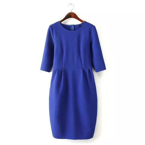 Autumn High Rise Slim Three-quarter Sleeve One Piece Dress [4917812804]