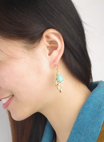 Bohemia Casual Vintage Leaf Earrings [4918495172]
