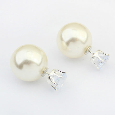 Crown Pearls Earrings [4919089988]