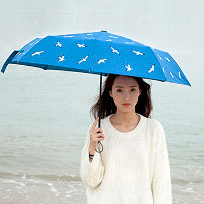 Stylish Strong Character Design Print Food Sea Umbrella [4918663684]