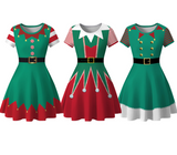 Christmas Elf Fashion Slim Dress  [4295013728328]