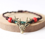 Fashion retro cute cartoon christmas fawn bracelet  [4353398407240]