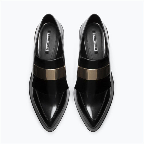 Metal Pointed Toe Shoes [4918350276]