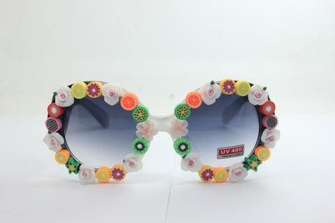 Handcrafts Soft Resin Fruits Mirror Strong Character Floral Sunglasses [4915289028]