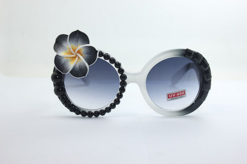 Glasses Floral Sunglasses Pearls Crystal Mirror [4915288964]