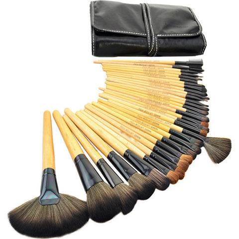 32-pcs Make-up Brush Pink Tools Black Brush Make-up Brush Set [4918376964]