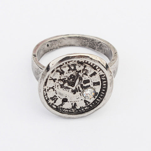 Fashion Hot Sale Strong Character Alloy Metal Ring Accessory Clock [4918800068]