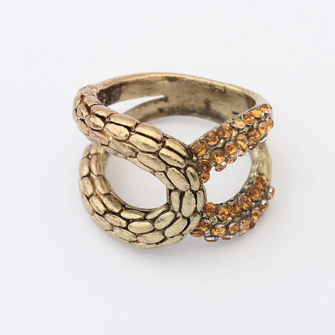 Jewelry Gift New Arrival Shiny Stylish Vintage Strong Character Metal Rhinestone Accessory Ring [4918799172]
