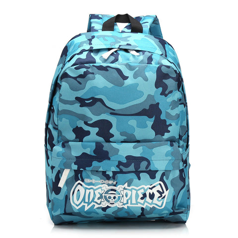 Back To School Stylish Hot Deal Comfort Casual College On Sale Camouflage Sea Anime Navy Backpack [4918758532]