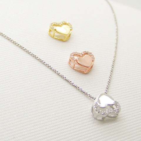 925 Silver Heart Ladies Jewelry Korean Accessory Pendant [4915371588]