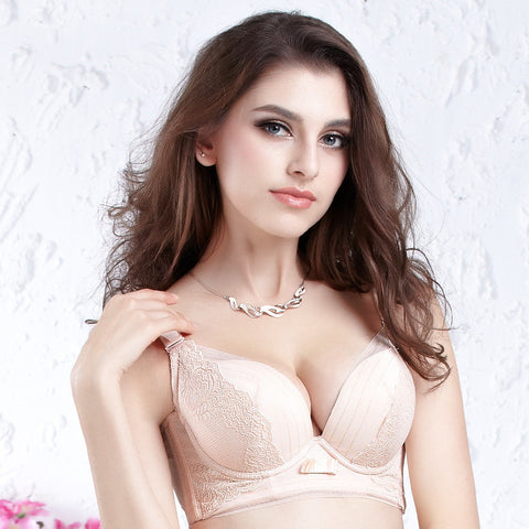 Cup Underwear Embroidery Sexy Adjustable Bra [4915567108]