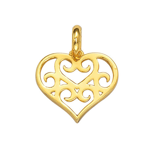 925 Silver Accessory Hollow Out Heart Korean Jewelry Pendant [4915381892]