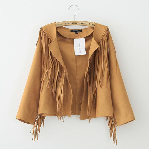 Autumn Strong Character Tassels Tops Jacket [6369156484]