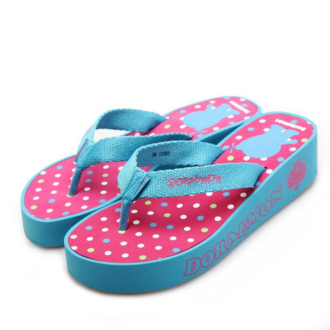 Home Thick Crust Fashion Anime Print Anti-skid Couple Slippers [4918324740]