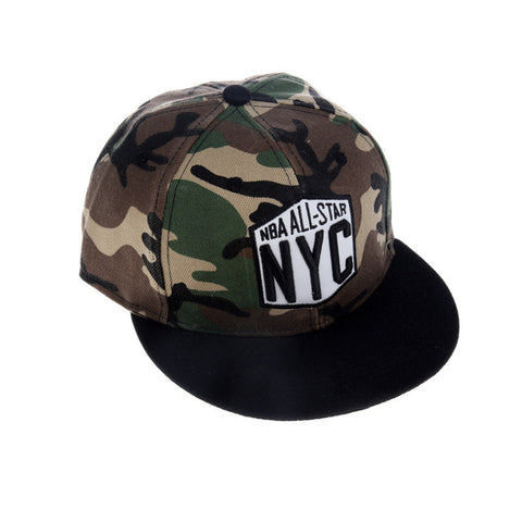 Korean Couple Hip-hop Baseball Cap Camouflage Hats [4917716228]