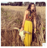 New Womens Sexy Boho Long Maxi Dress Ladies Vintage Summer Beach Party Sundress = 4756919172