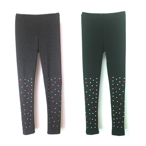 Winter Slim Stretch Fleece Pencil Pants Leggings [4918277764]