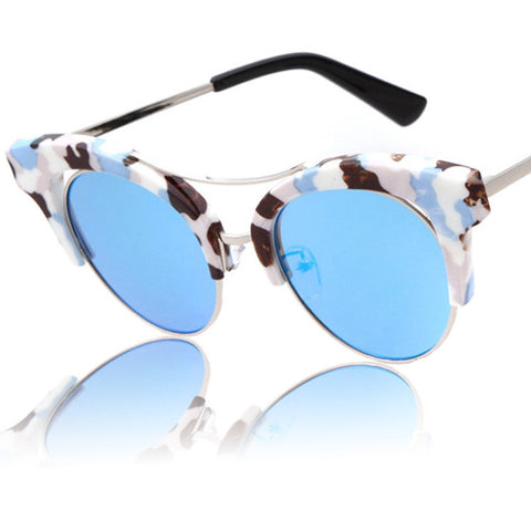 Classics Cats Mirror Hollow Out Sunglasses [4915038276]