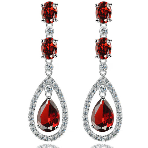 Fashion Accessory Hot Sale Water Droplets Crystal Earring Earrings [4918343236]