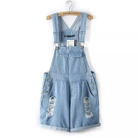 Cats Star Denim Shorts Ripped Holes Pants Romper [4917797572]