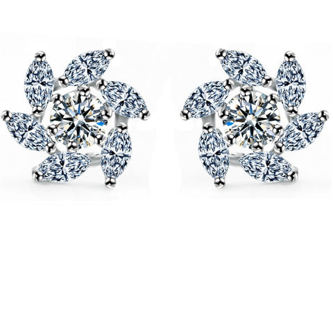 Crystal Accessory Simple Design Earring Earrings [4918318404]