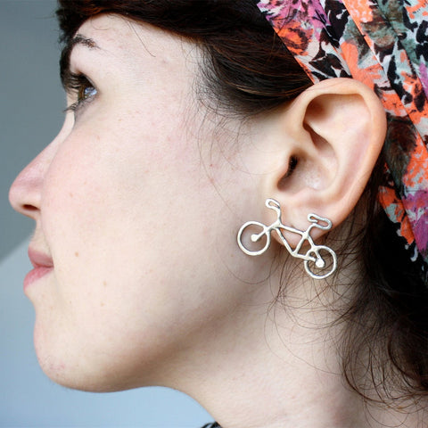 Stylish Strong Character Bicyclex Earring Accessory [4918494916]