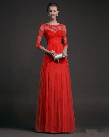 a28726f3c73 Long Sleeve Lace Mosaic Hollow Out Prom Dress Ball Gown One Piece   4918232580