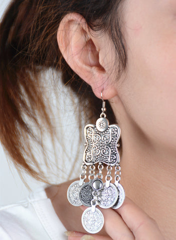 Accessory Vintage Metal Heavy Work Punk Earrings [4918474436]