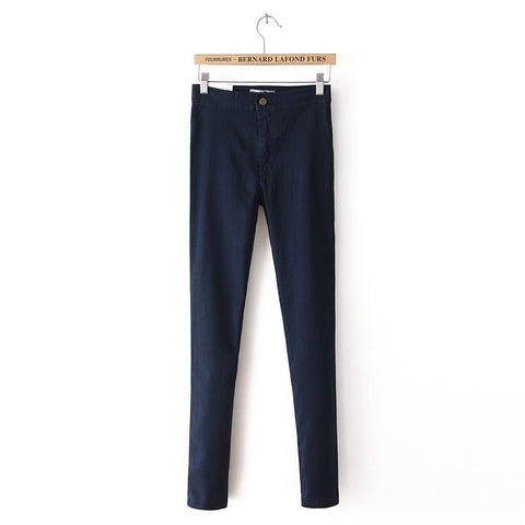 Sexy Slim Skinny Pants High Rise Stretch Pencil Pants Jeans [5013295940]