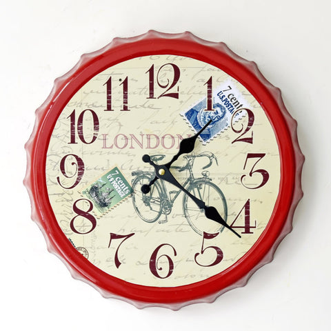 Creative Vintage Style Wall Sticker Decoration Clock [4914942148]