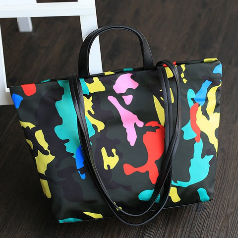Hot Sale Stylish Simple Design Casual Nylon One Shoulder Tote Bag Messenger Bags [4915789188]