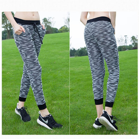 Cropped Pants Stylish Yoga Gym Ladies Outdoors Quick Dry Pants Sportswear [4915719364]