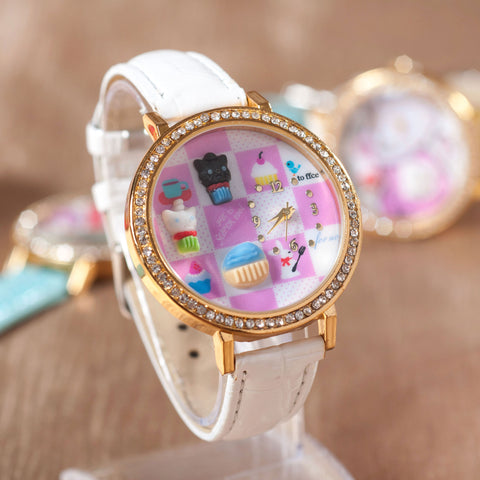 Good Price Great Deal New Arrival Gift Designer's Trendy Awesome Christmas Cartoons Soft Stylish Rhinestone Fashion Korean Watch [4915365060]