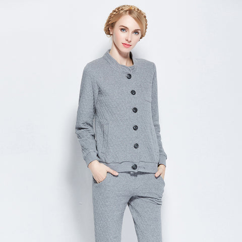 Cotton Home Ladies Winter Thicken Casual Sleepwear Long Sleeve Set [4918263364]