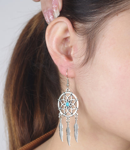 Accessory Stylish Hot Sale Vintage Metal Tassels Earrings Dream Catcher [4918472516]